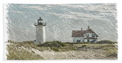 Race Point Lighthouse Hand Towel by Paul Miller