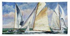 Race - Sails 11 Bath Towel by Irek Szelag