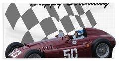Racing Car Birthday Card 1 Bath Towel
