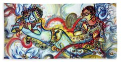 Radha Krishna - Flute - Love Bath Towel