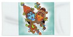 Radha With Her Krishna Hand Towel