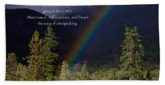 Hand Towel featuring the photograph Radiance Of The Rainbow by Debby Pueschel