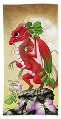 Hand Towel featuring the digital art Radish Dragon by Stanley Morrison