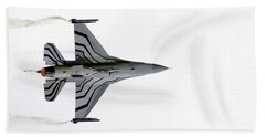 Raf Scampton 2017 - F-16 Fighting Falcon On White Bath Towel