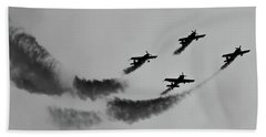 Raf Scampton 2017 - Global Stars Loop Black And White Bath Towel