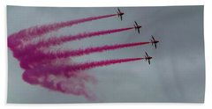 Raf Scampton 2017 - Red Arrows Enid Formation Bath Towel