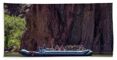 Rafters On The Colorado River, Grand Canyon Bath Towel