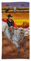 Ride 'em Cowboy Bath Towel by Glenn Holbrook