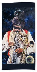 Hand Towel featuring the painting Rahsaan Roland Kirk- Jazz by Sigrid Tune