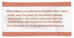 Rail Models By Gary Giacomelli Bath Towel by Gary Giacomelli