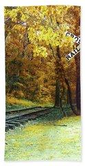 Rail Road Crossing To Neverland Bath Towel