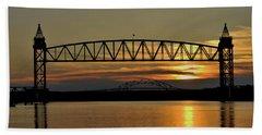 Railroad Bridge Over The Canal Hand Towel