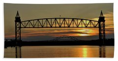 Railroad Bridge Over The Canal Hand Towel