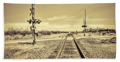 Railroad Crossing Textured Hand Towel