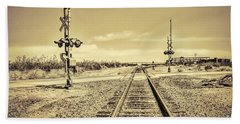 Railroad Crossing Textured Hand Towel