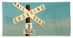 Railroad Crossing Hand Towel