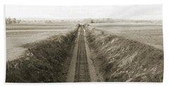 Railroad Cut, West Of Gettysburg Bath Towel