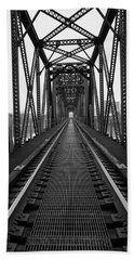 Hand Towel featuring the photograph Railroad by Ester Rogers