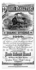 Railroad Official Directory  1893 Hand Towel