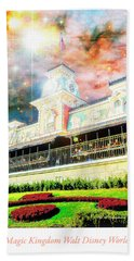 Railroad Station Magic Kingdom Walt Disney World, Fantasy Starry Hand Towel