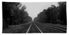 Railroad To Nowhere Hand Towel by Trish Tritz