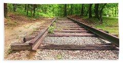 Railroad Tracks To Neverland Hand Towel