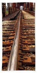 Railway Hand Towel by Ester Rogers