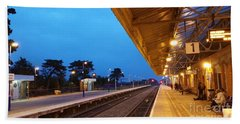 Bath Towel featuring the photograph Railway Vanishing Point by Jeremy Hayden