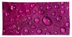 Rain And Bougainvillea Petals Bath Towel