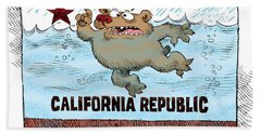 Rain And Drought In California Bath Towel
