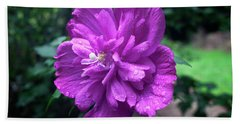 Rain Drop Covered Blossom Bath Towel by Jeff Severson