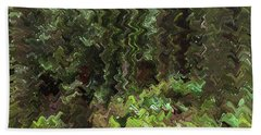 Rain Forest Abstract Bath Towel