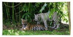 Rain Forest Tigers Bath Towel