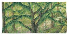 Rain Forest Washington State Hand Towel by Vicki  Housel