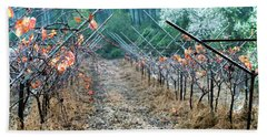 Bath Towel featuring the photograph Rain In The Vineyard by Dubi Roman