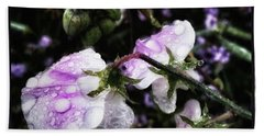 Bath Towel featuring the photograph Rain Kissed Petals. This Flower Art by Mr Photojimsf