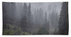 Rain Lovely Rain Hand Towel by Mary Lee Dereske