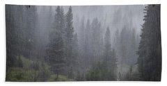 Rain Lovely Rain Bath Towel by Mary Lee Dereske