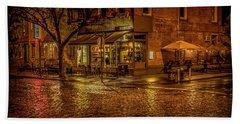 Rain On The Cobblestones Of Greenwich Village Hand Towel