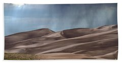 Rain On The Great Sand Dunes Hand Towel
