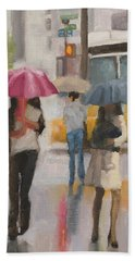 Rain Walk Hand Towel