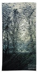 Rain - Water Droplets On The Window Hand Towel