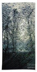 Rain - Water Droplets On The Window Bath Towel