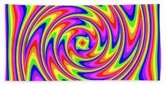 Bath Towel featuring the digital art Rainbow #2 by Barbara Tristan