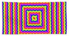 Hand Towel featuring the digital art Rainbow #3 by Barbara Tristan