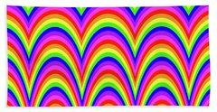 Bath Towel featuring the digital art Rainbow #4 by Barbara Tristan