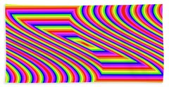 Hand Towel featuring the digital art Rainbow #5 by Barbara Tristan