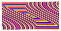 Bath Towel featuring the digital art Rainbow #5 by Barbara Tristan