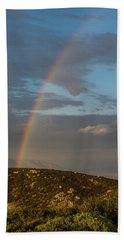 Rainbow Above Lagunas Bath Towel