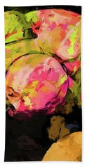 Rainbow Apples Graffiti Green Bath Towel